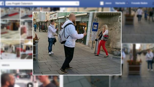Hier werden Koran-Bücher in der Fußgängerzone in Wiener Neustadt verteilt. (Bild: Facebook Lies Projekt Österreich)