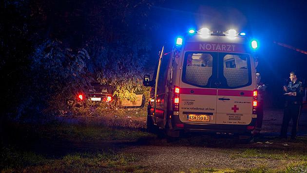Der Notarzt übernahm die Erstversorgung des Verletzten. (Bild: FF Krems/M.Wimmer)