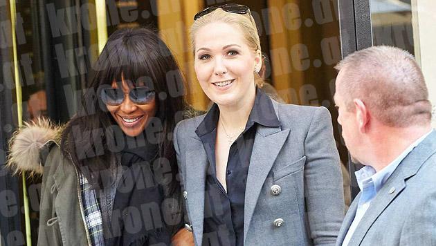 Naomi Campbell war gemeinsam mit Kathrin Glock bei Chanel in Wien. (Bild: Starpix/Alexander Tuma)