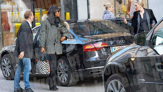 ... dann war Naomi Campbell auch schon wieder weg. (Bild: Starpix/Alexander Tuma)