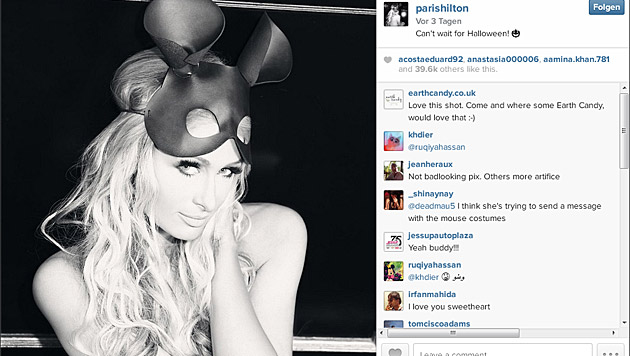Paris Hilton mit Mäuseohren (Bild: instagram.com/parishilton)