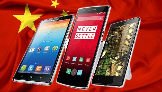 Chinas Smartphone-Riesen erobern den Weltmarkt (Bild: Lenovo, Oneplus, Xiaomi, thinkstockphotos.de, krone.at-Grafik)