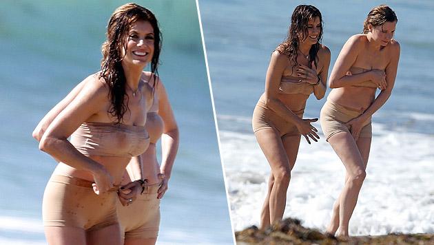 """Kate Walsh sieht auch im """"Nackt-Bikini"""" gut aus (Bild: Splash News)"""