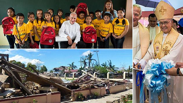 """Neue Schule auf Philippinen dank """"Krone""""-Familie (Bild: Caritas)"""