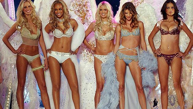 Nadine will ein berühmter Victoria's-Secret-Engel werden: Kurkova, Banks, Klum, Bündchen und Lima. (Bild: AP)