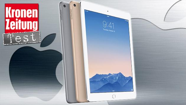 iPad Air 2: Apples dünne Tablet-Flunder im Test (Bild: Apple, thinkstockphotos.de, krone.at-Grafik)