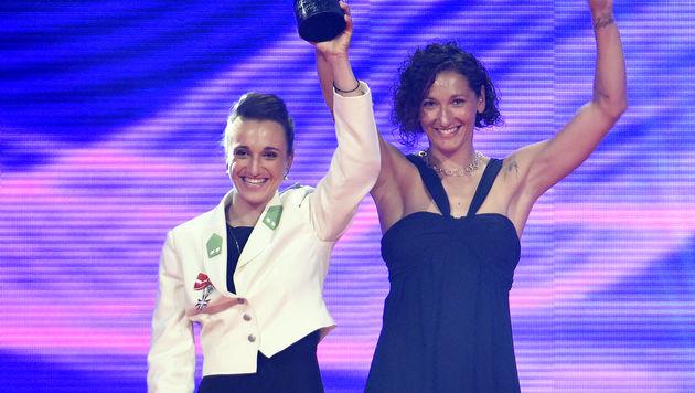 Mannschaft des Jahres: Die Seglerinnen Lara Vadlau und Jolanta Ogar (Bild: APA/HERBERT NEUBAUER)