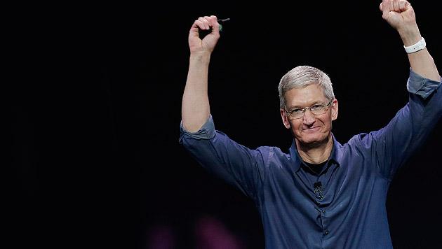 "Apple-Boss Tim Cook: ""Bin stolz, schwul zu sein"" (Bild: AP)"