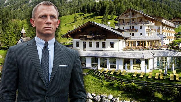 Craig & Bond-Crew haben Kärntner Hotel angemietet (Bild: AP, Privat, krone.at-Grafik)