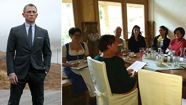 Die Tuffbad-Angestellten lernen bereits Englisch für Daniel Craig. (Bild: AP, Privat)
