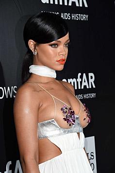 Aber auch Rihanna gewährte tiefe Einblicke. (Bild: AFP)
