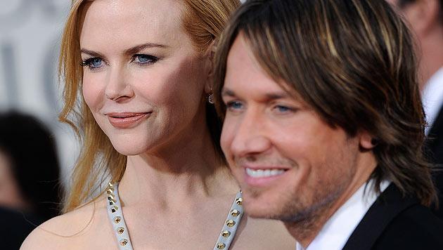 Nicole Kidman ist in zweiter Ehe mit dem Sänger Keith Urban verheiratet. (Bild: AP)