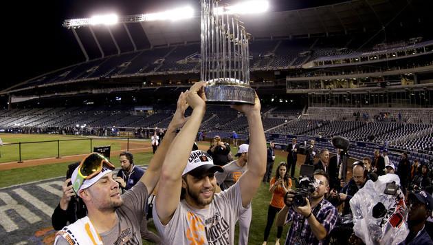 Schwere Randale überschatten Giants-Triumph (Bild: AP)