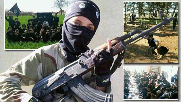 """Deutscher Staatsschutz warnt vor """"Hass-Kindern"""" (Bild: raqqa-sl.com, krone.at-Grafik)"""