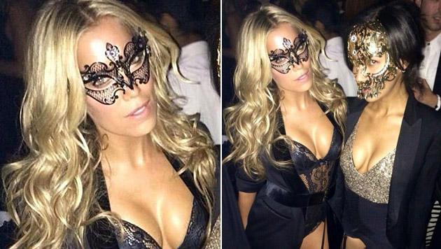 In sexy Dessous feierte Sylvie Meis jetzt schon Halloween. (Bild: twitter.com/MissSMeis)