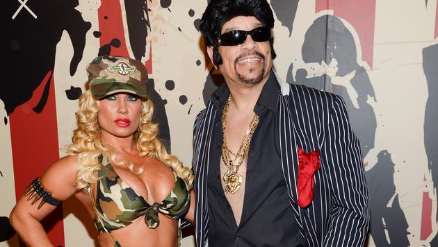 Coco Austin und Ehemann Ice-T bei Heidi Klums Halloween-Party (Bild: Evan Agostini)