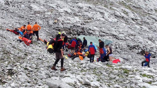 182 Helfer waren an der Rettungsaktion im August beteiligt. (Bild: Salzburger Bergrettung)