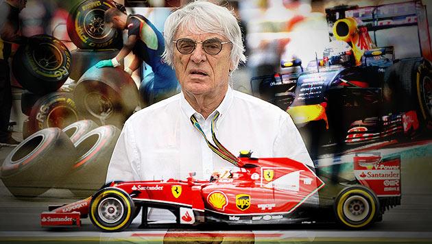 Ecclestone: Die Formel 1 wird noch heuer verkauft! (Bild: APA/EPA/KAHNERT, APA/SCHERIAU, APA/NEUBAUER, APA/SCHNEIDER)