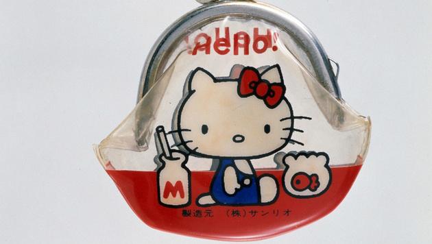 Das erste Hello-Kitty-Produkt war diese Geldbörse aus dem Jahr 1975. (Bild: AP)