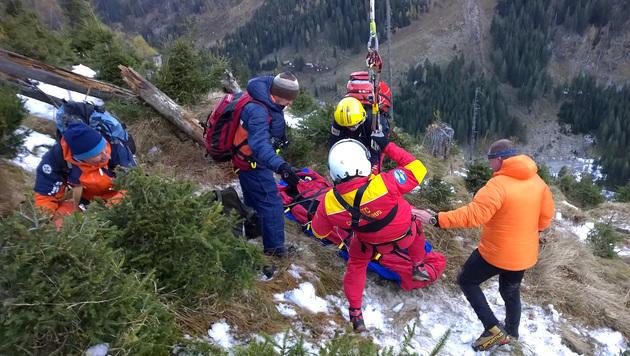 Zwei Burschen gerieten in Bergnot - sie konnten gerettet werden. (Bild: APA/BERGRETTUNG BAD GASTEIN/G. KREMSER)