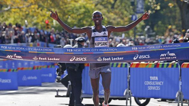Wilson Kipsang gewinnt den 44. New-York-Marathon (Bild: AP)