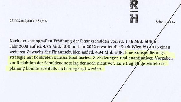 """Der Rohbericht des Rechnungshofs wurde der """"Krone"""" zugespielt. (Bild: Krone)"""