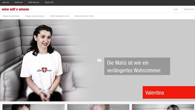 Was lieben die Wiener an ihrer Heimatstadt? (Bild: Screenshot wienwillswissen.at)