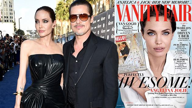 "Angelina Jolie: ""Freunde hielten uns für verrückt"" (Bild: Vanity Fair,  AP)"