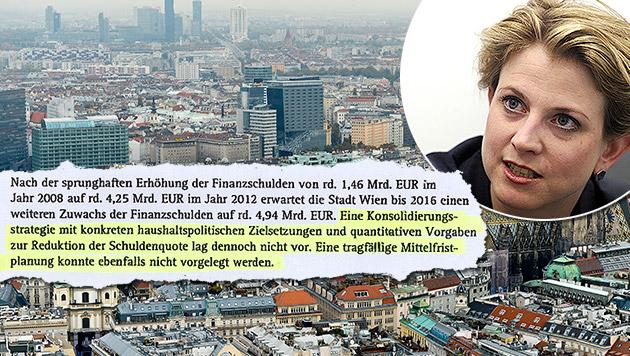 """Beate Meinl-Reisinger (NEOS): """"Fünf Milliarden Euro Schulden nur ein Teilgeständnis."""" (Bild: APA/Herbert Pfarrhofer, APA/Herbert Neubauer)"""
