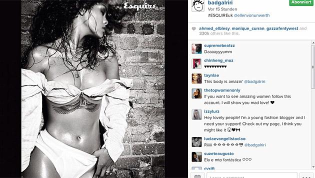 """Ellen von Unwerth setzte Rihanna fürs """"Esquire"""" so sexy in Szene. (Bild: instagram.com/badgalriri)"""
