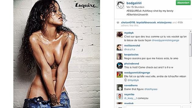 Hui! Dieses heiße Fotoshooting teilte Rihanna jetzt mit ihren Fans auf Instagram. (Bild: instagram.com/badgalriri)