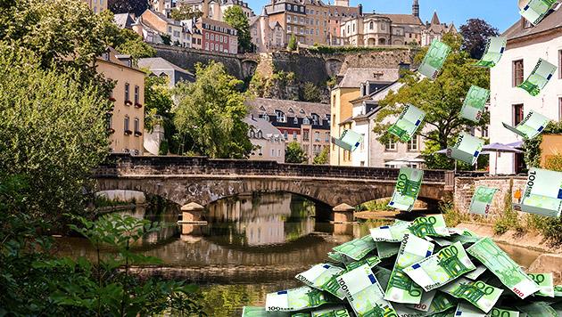 """Auch der europäische Kleinstaat Luxemburg zählt zu den 15 """"schlimmsten Steueroasen"""" der Welt. (Bild: thinkstockphotos.de, krone.at-Grafik)"""