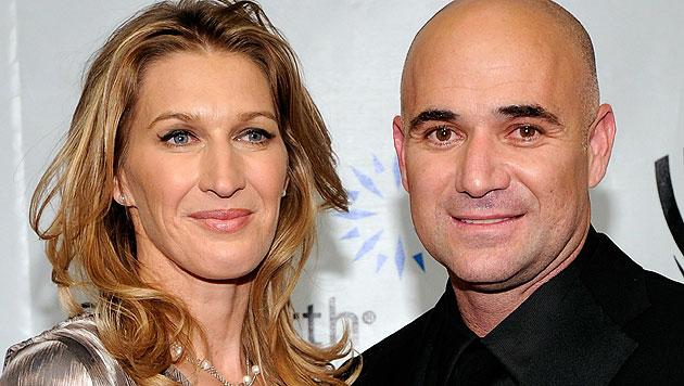 Steffi Graf und Andre Agassi sind seit Jahren glücklich verheiratet. (Bild: AFP)
