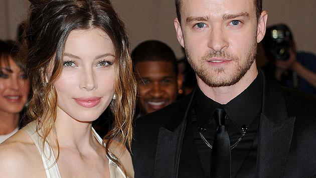 Jessica Biel und Justin Timberlake im Glück (Bild: AP)