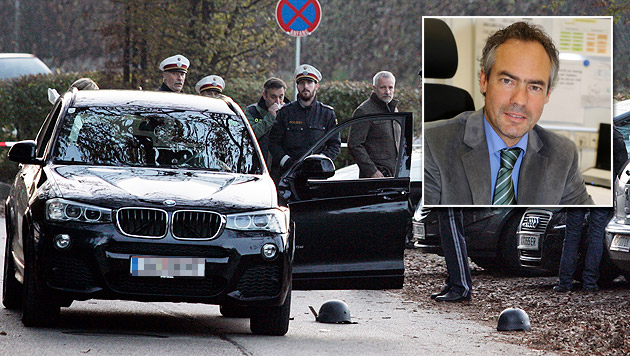 Kripo-Chef Gottlieb Türk zieht nach dem Mord am Parkplatz des Schlosses Mageregg eine erste Bilanz. (Bild: Klaus Kreuzer, Uta Rojsek-Wiedergut)
