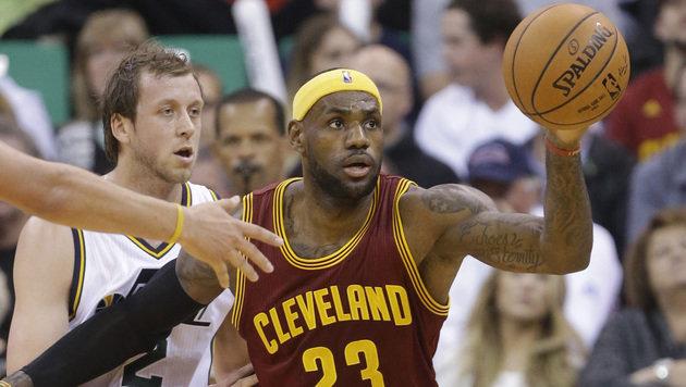 Superstar LeBron James verlor in letzter Sekunde (Bild: AP)