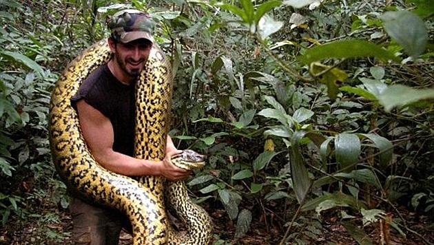 Paul Rosolie will sich fürs Fernsehen von einer Anakonda fressen lassen. (Bild: Facebook.com/Paul Rosolie)