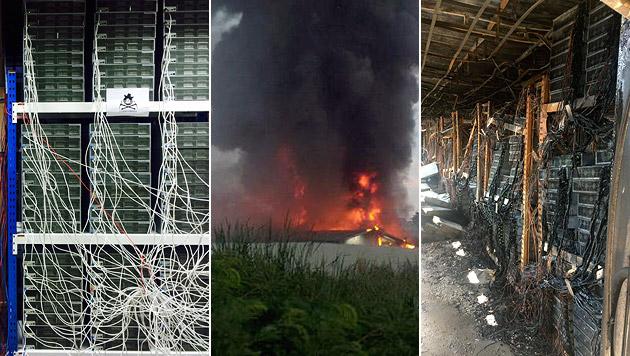Bitcoin-Mine bei Großbrand völlig zerstört (Bild: bitcointalk.org)