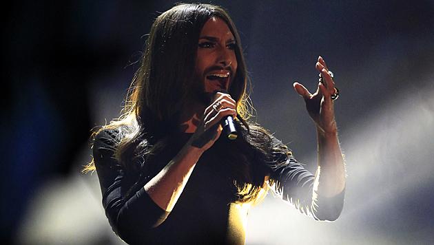 """""""Heroes"""" ist ihre zweite Single, mit """"Rise Like A Phoenix"""" gewann sie den Song Contest. (Bild: APA/Erwin Scheriau)"""