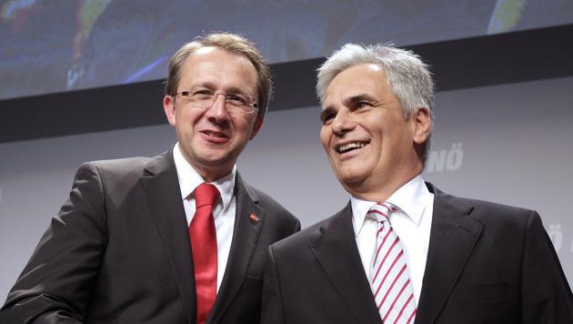Matthias Stadler mit Werner Faymann (Bild: APA/GEORG HOCHMUTH)