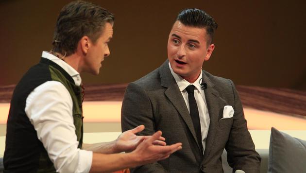 """Markus Lanz im Gespräch mit Andreas Gabalier in der TV-Show """"Wetten, dass..?"""" in Graz (Bild: ERWIN SCHERIAU)"""