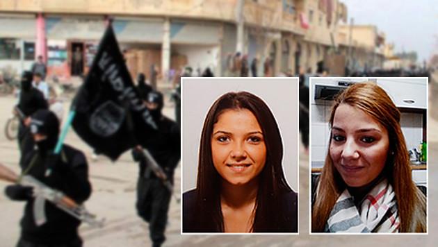 Violetta (l.) und Viktoria (r.) riefen ihre Mutter aus der Türkei an. (Bild: Zwefo, AP)