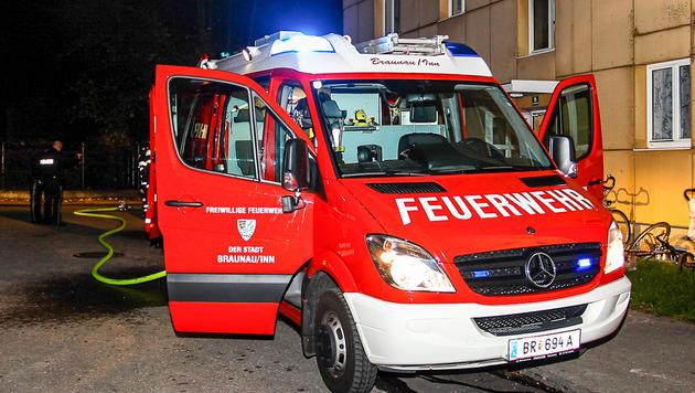 Die Feuerwehr brachte den Brand rasch unter Kontrolle. (Bild: Daniel Scharinger)