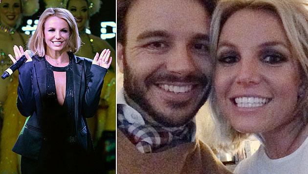 Britney Spears mit ihrem Liebsten Charlie Ebersol  auf Instagram. (Bild: instagram.com/britneyspears, AP)