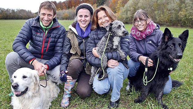 """Trainieren fleißig: Michael und Susanne mit """"Cherryberry"""", Uschi mit """"Pablo"""" und Andrea mit """"Sunny"""" (Bild: Markus Tschepp)"""