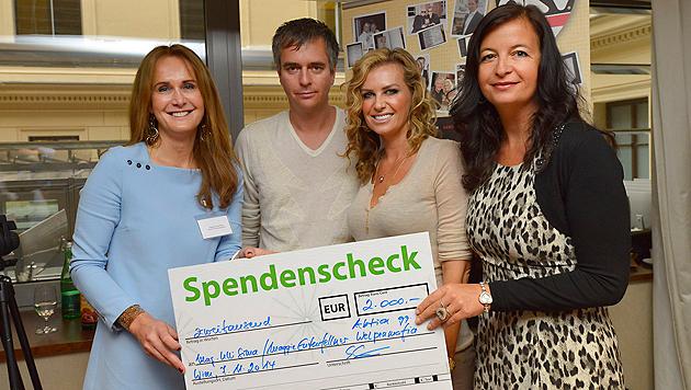 Maggie Entenfellner, Jürgen W. Pichler und Topmodel Gina Clarke, Umweltstadträtin Ulli Sima (Bild: Kromus)