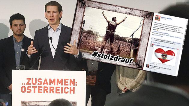 """stolzdrauf"": Neue Kurz-Kampagne polarisiert (Bild: APA/AUSSENMINISTERIUM/DRAGAN TATIC, facebook.com)"
