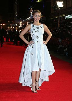 Die zauberhafte Robe stammt vom französischen Modehaus Dior, für das Lawrence wirbt. (Bild: AP, EPA)