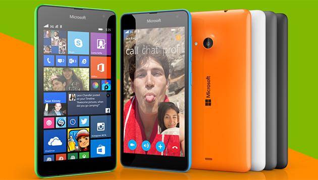Lumia 535: Einsteiger-Smartphone zum kleinen Preis (Bild: Microsoft)