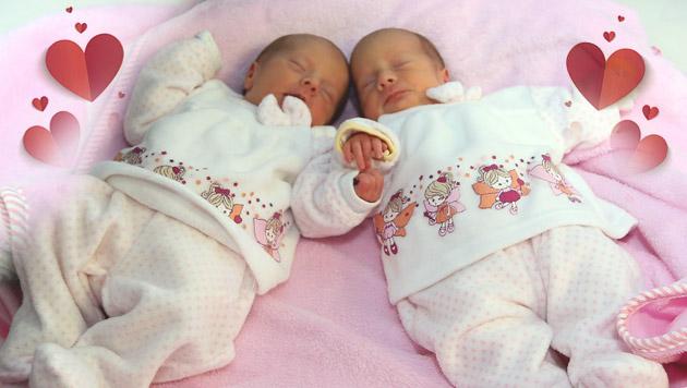 Zwillinge in OÖ haben unterschiedliche Geburtstage (Bild: Daniel Scharinger)